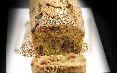 Gâteau pistache chocolat sans farine, sans lait, sans sucre, sans levure, avec ou sans oeuf