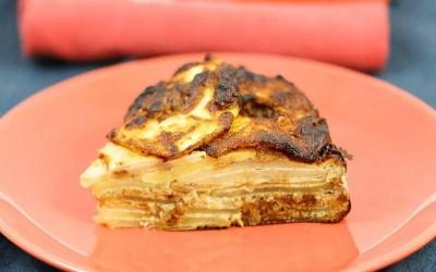 Gâteau invisible aux pommes sans gluten, sans lait, sans levure, sans sucre