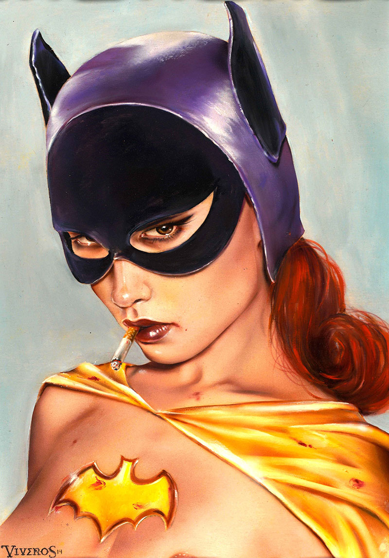 EL-BATGIRL-10x132-oil_acrylic-on-maple-board_Year-2014