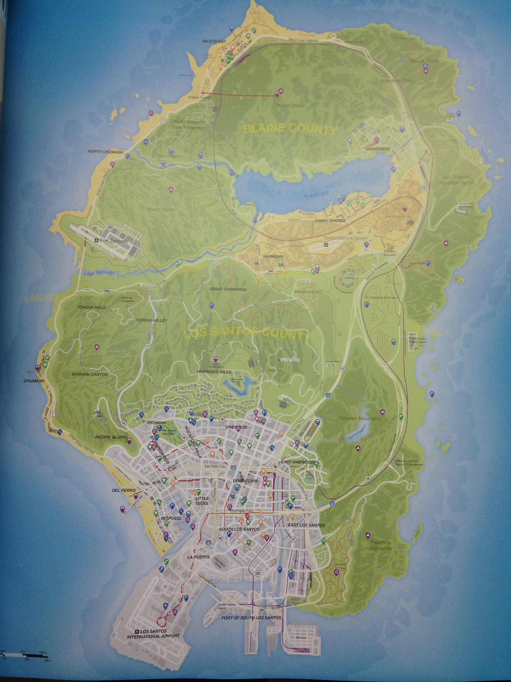 Gta V Map With Street Names : street, names, Santos