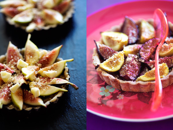 Fig Tarts from Tartine Gourmande