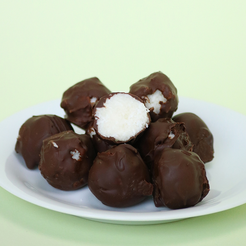 Boules chocolat coco, vegan