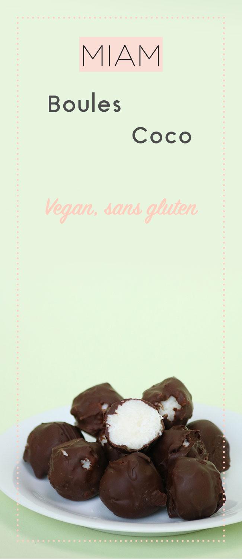 Voici les boules de coco et chocolat vegan, trop bonnes à la façon des bounty, elles sont simples à faire alors venez découvrir la recette !