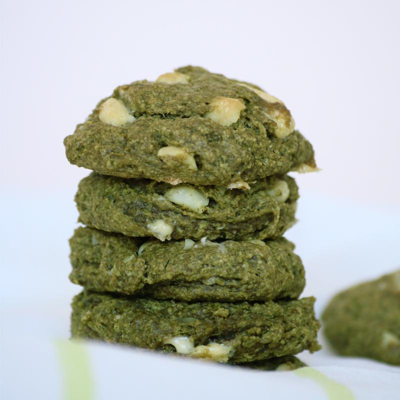Cookies Matcha, vegan, sans gluten