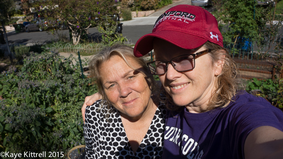 Four Fun-filled Primarily Paleo Days with a Midwife Blogger - Kaye & Sandi in the garden