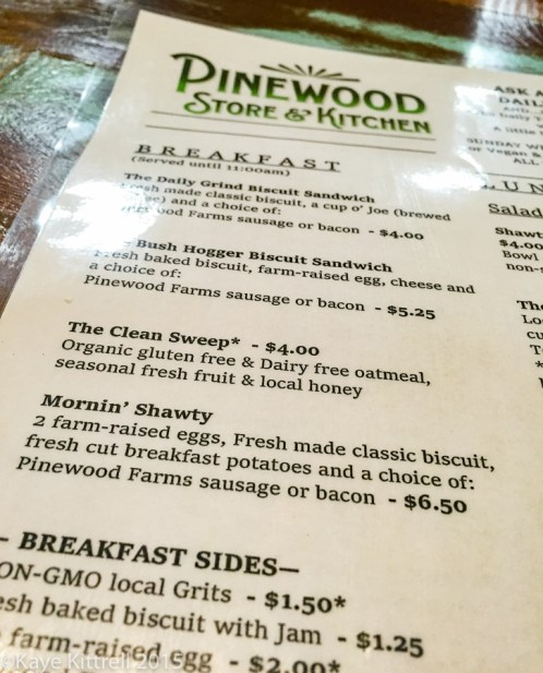 Files from the Road: Farm to Table in Pinewood - menu