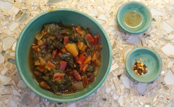 Braised Chard Southern Style