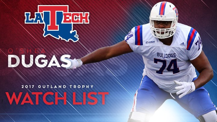 Dugas named to Outland Trophy watch list