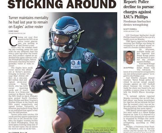 Turner maintains mentality to keep active roster spot with Eagles