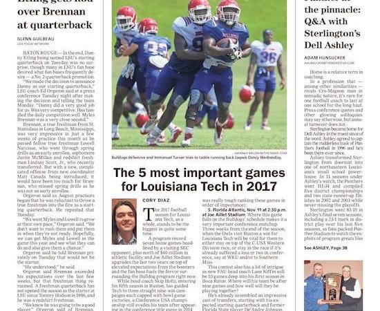 5 most important games for Louisiana Tech