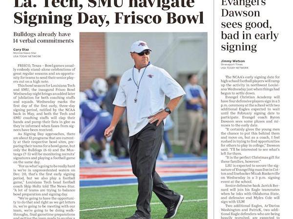 How Louisiana Tech plans to handle signing day, Frisco Bowl on same day