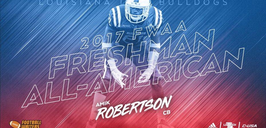 Amik Robertson earns FWAA Freshman All-America honors