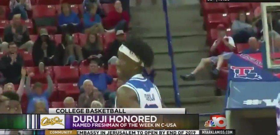 Dunkin' Dawgs' Duruji honored