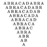 Simbolo esoterico: Abracadabra