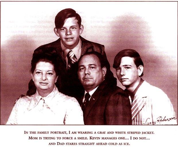Il serial killer Danny Rolling con tutta la sua famiglia
