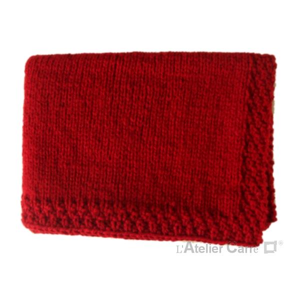 Couverture bébé en tricot personnalisable