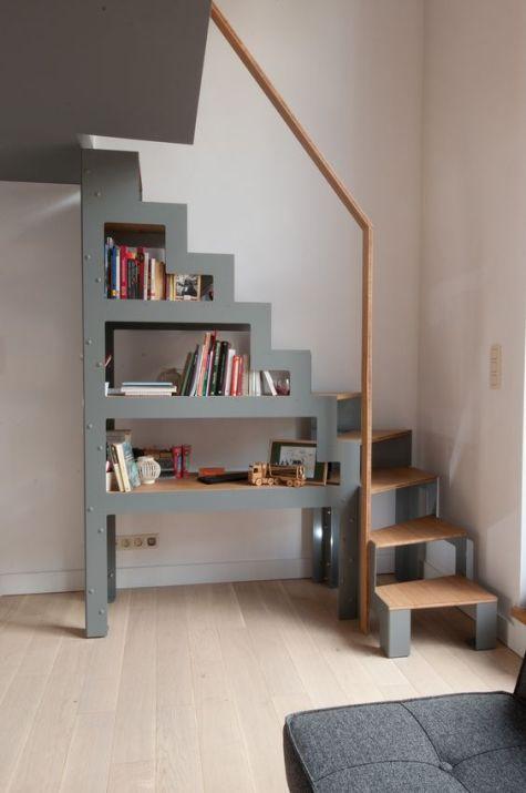 escalier bibliothèque 3