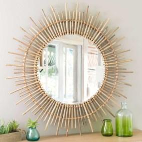 chambre tendance miroir soleil