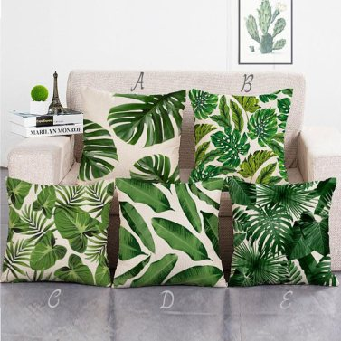 salon trendy coussin tropical