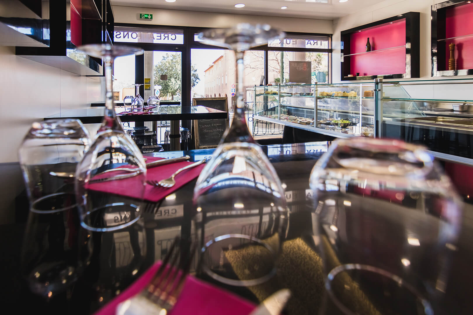 Intérieur boutique-restaurant Bastia - L'Atelier du Chef - Traiteur Corse