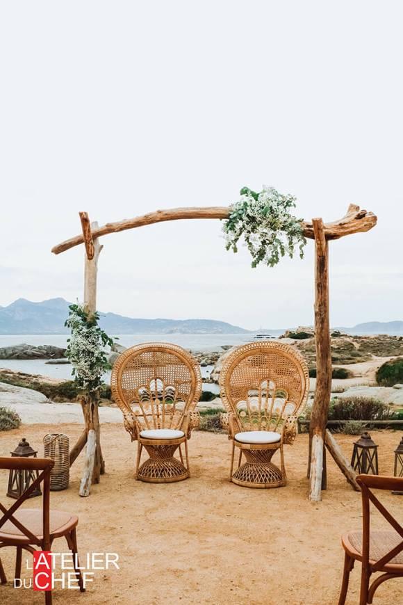 Mariage au rocher à Lumio - L'Atelier du Chef - Traiteur Corse
