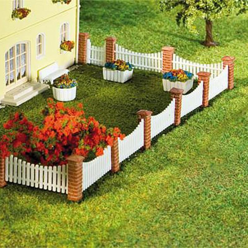 Clture de jardin poteaux briques lames ajoures N FALLER 272409