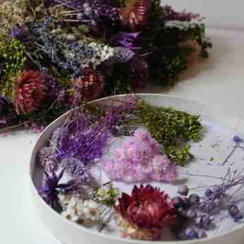 fleurs sechees diy tambour broderie