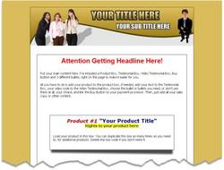 Free Mini-Site Sales Page Templates