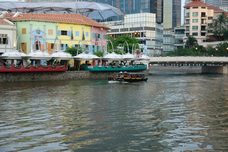 River Boat In Singapore