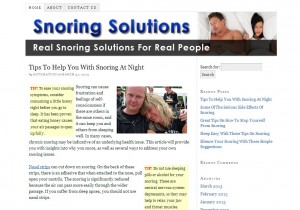 Snoring Solutions Site