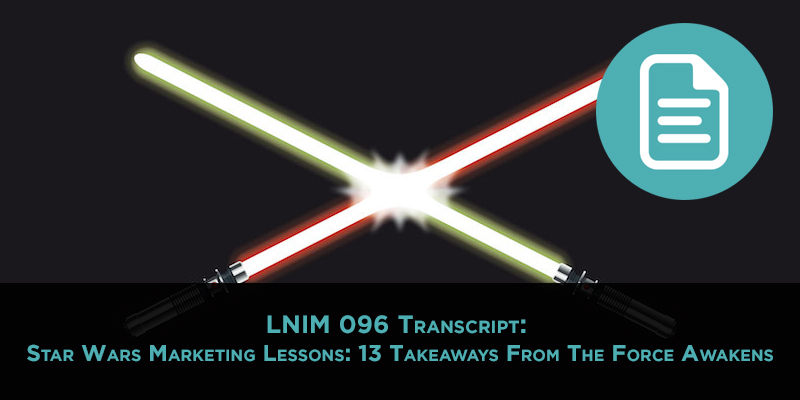 LNIM096 Transcript: Marketing Lessons