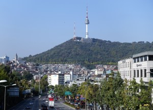 Seoul Tower on a sunny day