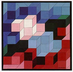 Victor Vasarely was an excellent Hungarian painter Here