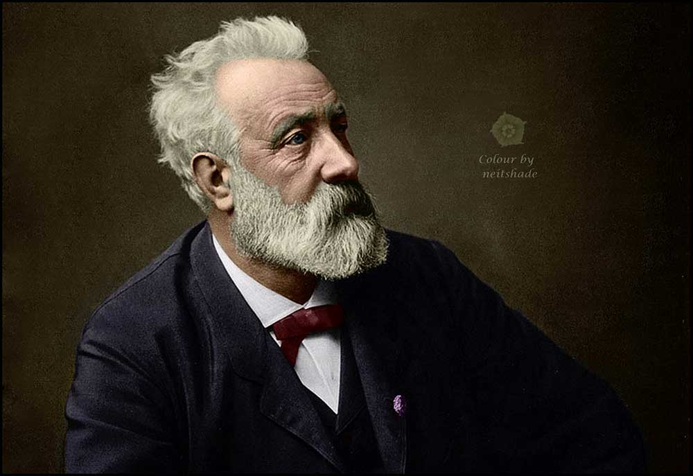 Jules Verne in 1892, colorized by Neitshade at LaterBloomer.com