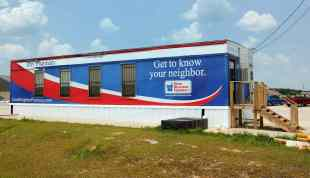 May 2012. Ray's Pharmacy in temporary quarters.