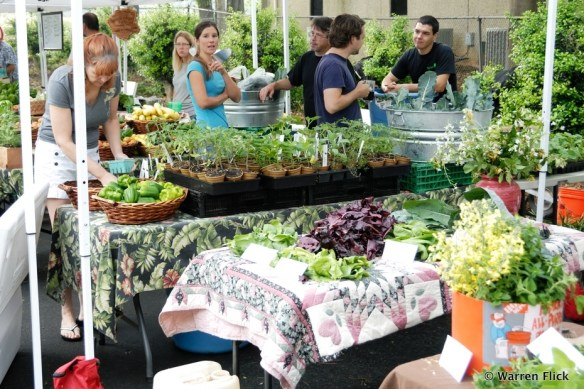 Later Living: Early customers at the Athens Farmer's Market