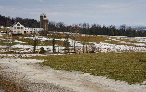 Vermont farm during January thaw