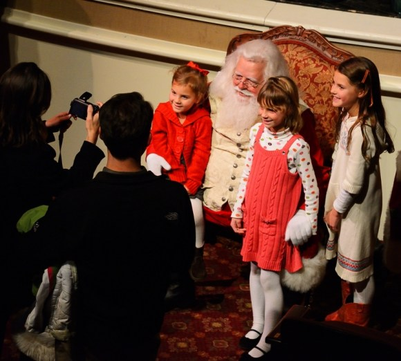 A good year ending may be Santa listening to our children's wishes as their parents click away.