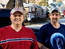 Two men in Harlan were moving furniture in a local school.
