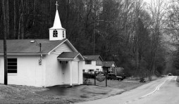 A Faith Holiness Church on a rural road south of Harlan. Again, close to the road and small.