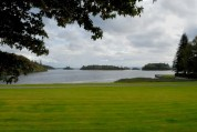 A view from the grounds at the front of Ashford Castle.