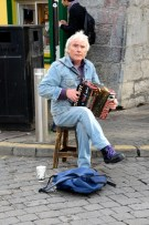 Accordion player on the streets of Galway.