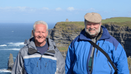 Bill (left) and me (right) at The Cliffs of Moher.