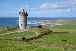 Doonagore's Castle near Doolin, north of the Cliffs of Moher. It is now a private holiday home not open to the public.