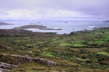 Farmland near the Atlantic Ocean in County Kerry.