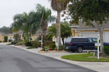 Street view of homes in The Villages