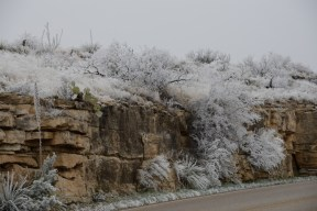 Winter wonderland at Carlsbad Caverns