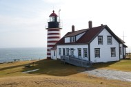 Lighthouse, Quoddy Head State Park. Eastern most point in the United States.