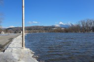 A field flooded by the Lamoille, February 26
