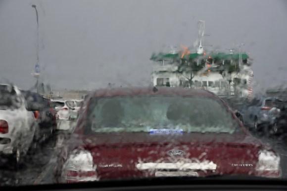 Leaving the Olympic Peninsula in the rain.
